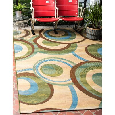 Skylar Beige Indoor/ Outdoor Area Rug Rug Size: Round 8