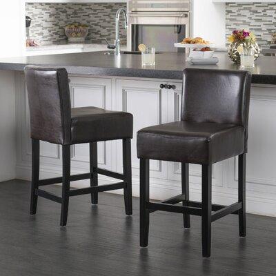 Deirdre 26 Bar Stool Upholstery: Brown
