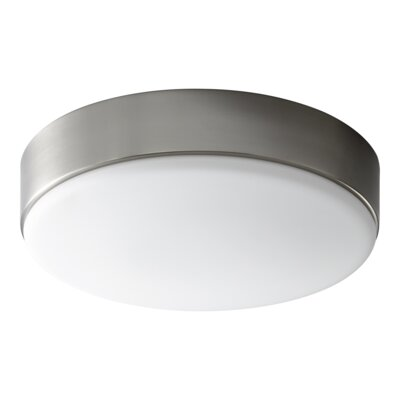 Selvage 2-Lights Drum Flush Mount Finish: Satin Nickel
