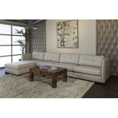 Timpson Buttoned Modular Sectional Upholstery: Sand, Orientation: Left Hand Facing