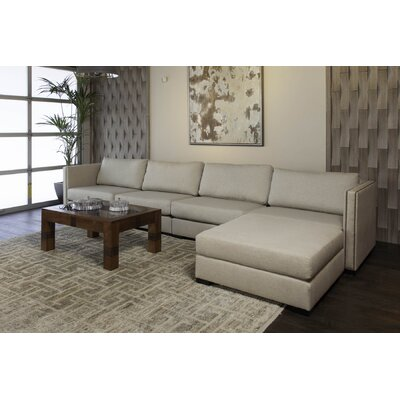 Timpson Chaise Modular Sectional Upholstery: Sand, Orientation: Right Hand Facing