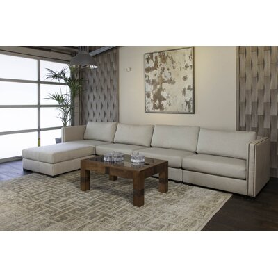 Timpson Chaise Modular Sectional Upholstery: Sand, Orientation: Left Hand Facing