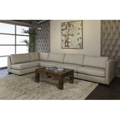 Timpson Left L-Shape Modular Sectional Upholstery: Sand