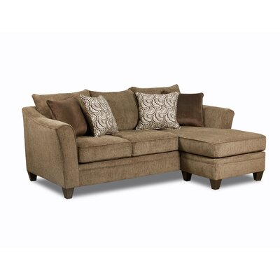 Teri Sectional Upholstery: Albany Truffle