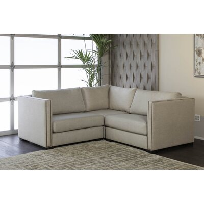 Timpson Right and Left Arms L-Shape Mini Modular Sectional Upholstery: Sand