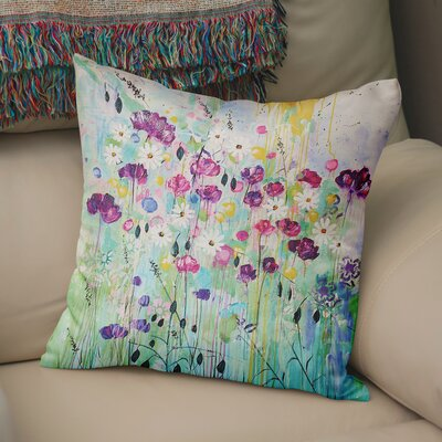 Cheree Floral Throw Pillow Size: 18 x 18