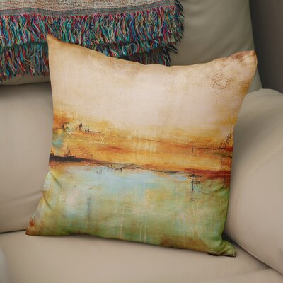 Cher Abstract Throw Pillow Size: 18  x 18