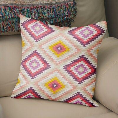 Sulien Indoor/Outdoor Throw Pillow Size: 18 H x 18 W x 5 D, Color: Beige/ Pink/ Ivory/ Purple