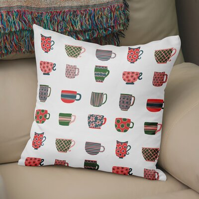 Talton Tea Cups Throw Pillow Size: 24 H x 24 W