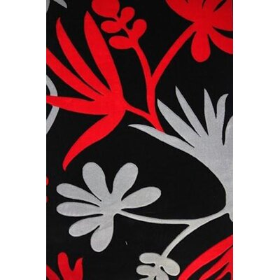 Velazco Power Loom Red/Gray/Black Area Rug Rug Size: Rectangle 710 x 106