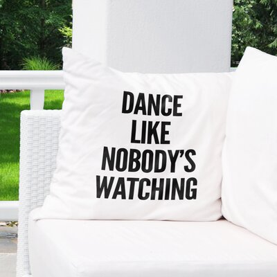 Shubert Alley Watching Indoor/Outdoor Throw Pillow Size: 18 H x 18 W x 8 D