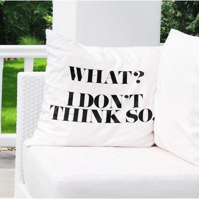 Chelsi Indoor/Outdoor Throw Pillow Size: 18 H x 18 W x 8 D