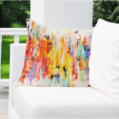 Sieber Abstract Indoor/Outdoor Throw Pillow Size: 18 H x 18 W x 8 D
