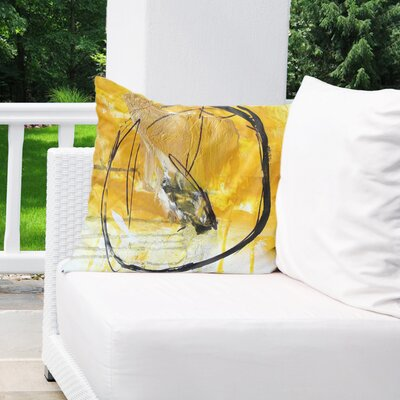 Charlot Gold Indoor/Outdoor Throw Pillow Size: 18 H x 18 W x 8 D
