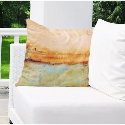 Cher Abstract Indoor/Outdoor Throw Pillow Size: 18 H x 18 W x 8 D