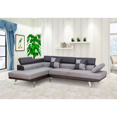 Damos Reversible Reclining Sectional Orientation: Left Hand Facing