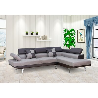 Damos Reversible Reclining Sectional Orientation: Right Hand Facing