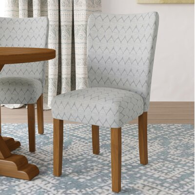 Haverstraw Textured Parsons Upholstered Dining Chair Upholstery: Gray
