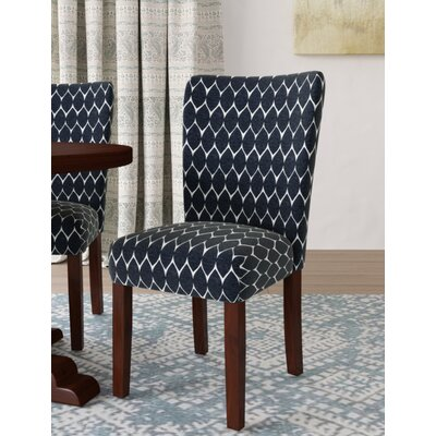 Haverstraw Textured Parsons Upholstered Dining Chair Upholstery: Navy