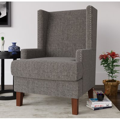 Annita Wingback Chair Upholstery: Gray
