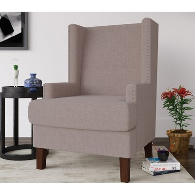 Annita Wingback Chair Upholstery: Natural