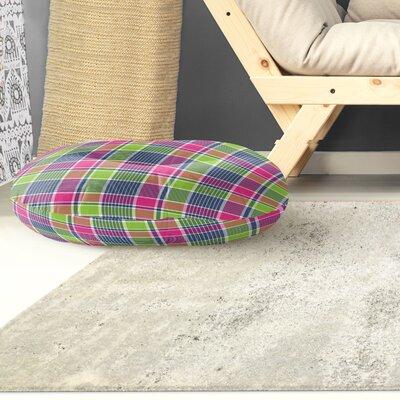 Zoelle Plaid Indoor/Outdoor Floor Pillow Size: 23 H x 23 W x 8 D