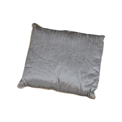Sigmund Zipper Throw Pillow Color: Silver