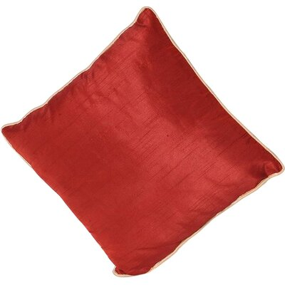 Sigmund Zipper Throw Pillow Color: Burgandy