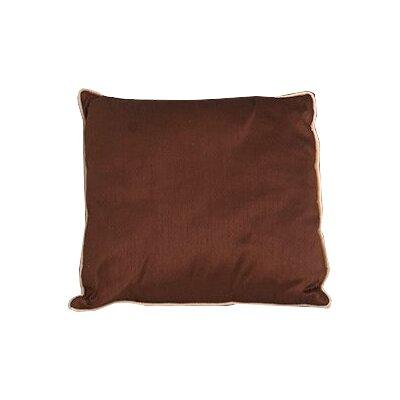 Sigmund Zipper Throw Pillow Color: Chocolate
