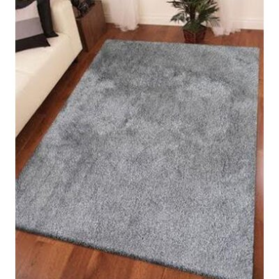 Heineman Solid Shag Hand-Tufted Gray Area Rug Rug Size: Rectangle 5 x 7