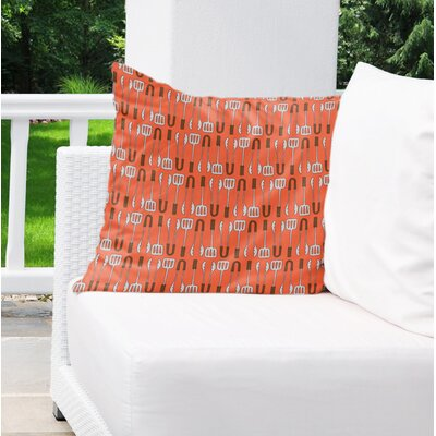 Ziva Indoor/Outdoor Throw Pillow Size: 18 H x 18 W x 4 D