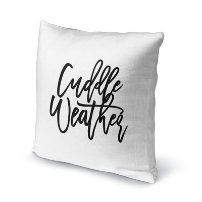 Sheneza Cuddle Weather Outdoor Throw Pillow Size: 18 x 18