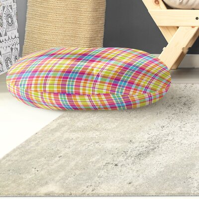 Harloe Plaid Indoor/Outdoor Floor Pillow Size: 26 H x 26 W x 8 D