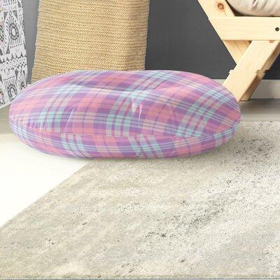 Malvina Plaid Indoor/Outdoor Floor Pillow Size: 26 H x 26 W x 8 D