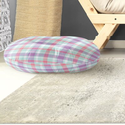 Malvina Plaid Indoor/Outdoor Floor Pillow Size: 26 H x 26 W x 8 D