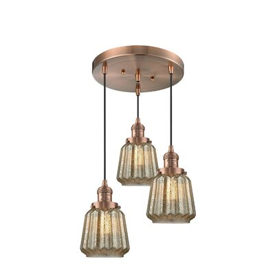 Vinson 3-Light Cluster Pendant Finish: Antique Copper