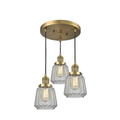 Vinson 3-Light Cluster Pendant Finish: Brushed Brass