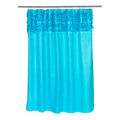 Kimbrel Shower Curtain Color: Cyan Blue