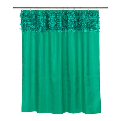 Kimbrel Shower Curtain Color: Emerald