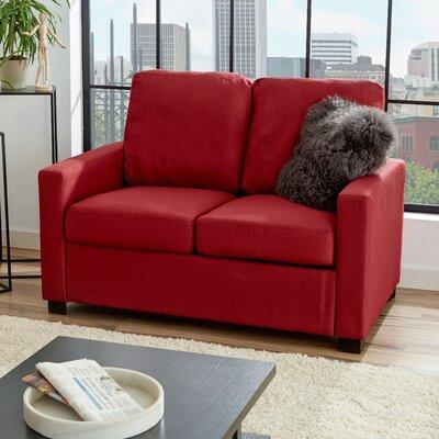 Earlene Loveseat Upholstery: Cardinal