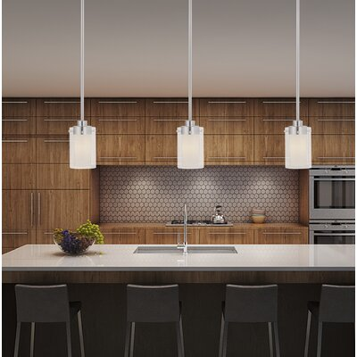 Levi 1-Light Mini Pendant Finish: Brushed Nickel
