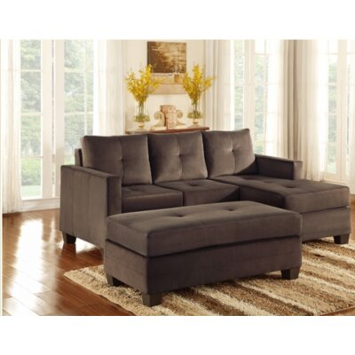 St Catherine Reversible Sectional Upholstery: Chocolate