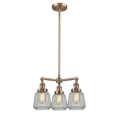 Vinson 3-Light Mini Chandelier Finish: Antique Copper