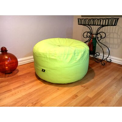 Wayman Oversized Pouf Upholstery: Lime Green
