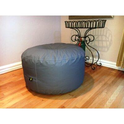 Wayman Oversized Pouf Upholstery: Slate Gray