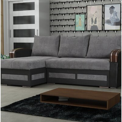 Vitela Reversible Sleeper Sectional Upholstery: Gray