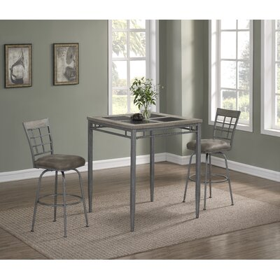 Perreira 3 Piece Pub Table Set