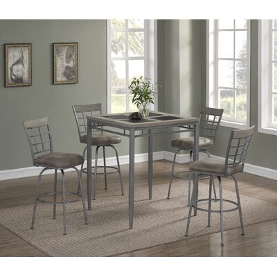 Perreira 5 Piece Pub Table Set