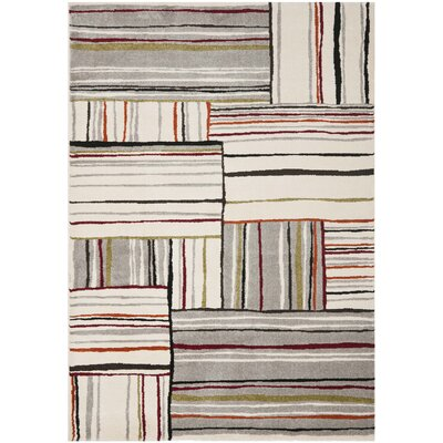 Mclaughlin Beige/Red Area Rug Rug Size: Rectangle 53 x 77