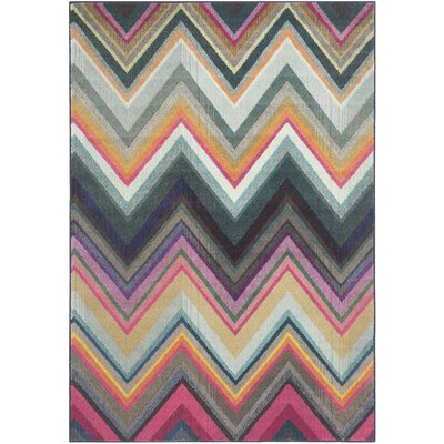 Leonie Green/Pink Area Rug Rug Size: Rectangle 51 x 77